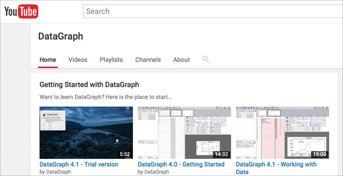 DataGraph on YouTube